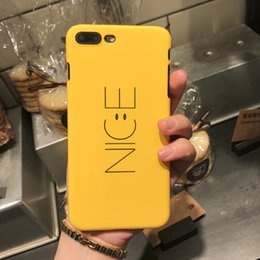iphone yellow Australia - nice simple words yellow black cell phone case for iPhone X XS MAX XR with apple 8 7 6s plus hard shell cover protecter
