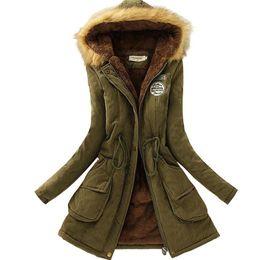 Parkas For Winter Australia - Wholesale- 2017 New Parkas Female Women Winter Coat Thickening Cotton Winter Jacket Womens Outwear Parkas for Women Winter