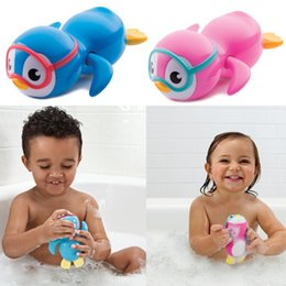 Black Swimming Toys Australia - Baby Wind Up Bath Toys Lovely Penguin Clockwork Chain Swimming Water Bath Toy Educational Toys for Children Kids Baby Playing Toy Bathroom