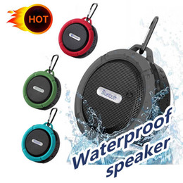 potable speakers Australia - C6 Speaker Bluetooth Speaker Wireless Potable Audio Player Waterproof Speaker Hook And Suction Cup Stereo Music Player new by JMPOZ