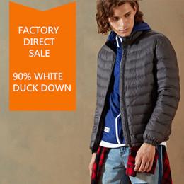 83e845a0521 Men s Winter Outwear Light 90%-95% White Down Jacket Stand Collar Packable  Puffer Jacket Warm Parka Coat Size S-3XL