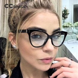 032ace14e6e CCSPACE 6 Colors Ladies Cateye Glasses Frames Men Women Rivet Brand  Designer Optical EyeGlasses Fashion Computer Glasses 45288