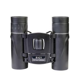 telescope powerful 2019 - 8x21 Compact Zoom Binoculars Long Range 3000m Folding HD Powerful Mini Telescope BAK4 FMC Optics Hunting Sports Camping