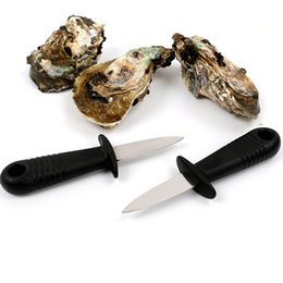Fresh Steel Free NZ - Shells Opener Oyster Knife Fresh Oyster Seafood Open Tool Scallop knife Stainless Steel Professional Shucking Shellfish Opener Free DHL