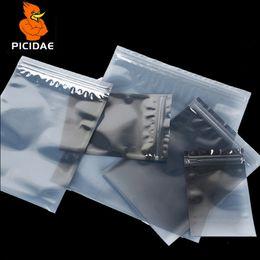 $enCountryForm.capitalKeyWord NZ - 15x20 cm Anti-static shield zipper Bone ziplock plastic Packaging Bag electronic Optical drive Components Hardware Circuit IT IC Pcb boar