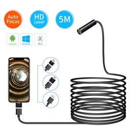 5mp cmos camera Australia - 3in1 Super HD 1944P 5MP USB Endoscope Camera Auto Focal CMOS Borescope