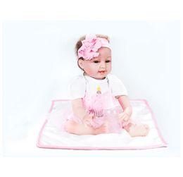 $enCountryForm.capitalKeyWord Australia - 55cm Silicone Lifelike Reborn Baby Doll Realistic Newborn Babies with Clothing Kids Playmate Best Birthday Xmas Gift