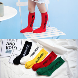 $enCountryForm.capitalKeyWord Australia - Children Knee Socks Made By Pure Cotton With Beautiful Color And Letters Great Sports Casual Socks For 1-9t Boys And Girls