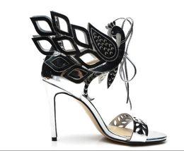 Ingrosso Sandali tacco alto da donna con tacco alto in pelle verniciata e sandali gladiatore con tacco alto