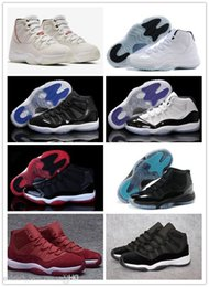 $enCountryForm.capitalKeyWord NZ - Free Shippment 11 Xi Platinum Tint Basketball Shoes 11s Concord Cap And Gown Space Jam Legend Gamma Blue Cool Grey Bred Sports Sneakers