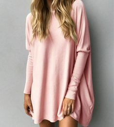 f33a92774a5 Plus Size Oversized Sweater Dress Australia - cool Sweater Dress Womens  Loose Knitted New hot Autumn