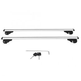 130cm Aluminum Alloy Universal Silver Car Roof Rack Cross Bar Lockable Rail Lage Carrier High Quality Auto Accessories on Sale