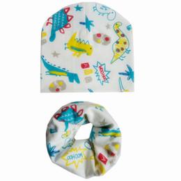 $enCountryForm.capitalKeyWord NZ - New Autumn Winter Baby Hat Set Boys Girls Neck Scarf Spring Warm Caps Collar Kids Beanies Sets Cotton Children Hat Scarf Bibs