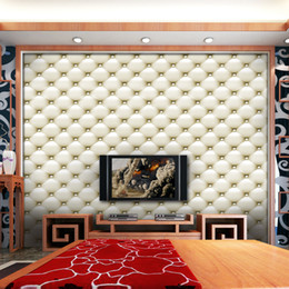 Pattern Decor Australia - Creative 3D Simulation Leather Pattern Wall Stickers 40*300cm Home Decor TV Sofa Backround Wallpaper PVC DIY Art Mural Poster