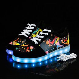 Sneakers Children Australia - Kriativ Size 27-44 Kids Shoes For Girls Boys Led Shoes Luminous Sneakers Light Up Children Tenis Led Slippers Usb Recharging Y19051403
