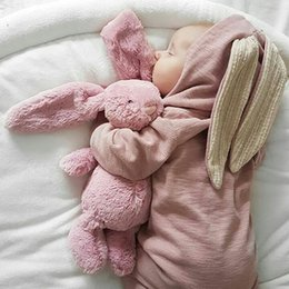 $enCountryForm.capitalKeyWord Australia - Winter Rompers Warm Rabbit Ear Baby Romper Fleece Jumpsuit Snow Wear Snowsuit Cute Infant Clothing Newborn Boys Grisl Clothes J190526