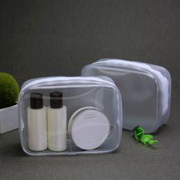 Wholesale Hotsale Clear PVC Transparent Cosmetic Bag Women Travel Make up Toiletry Bags Makeup Organizer Case Larger QTY Accept OEM