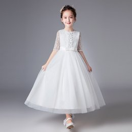 b99c3672e8 White Winter Wedding Flower Girls Dresses Australia - 2019 Baby girl  wedding dress lace long sleeve