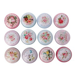 tin boxes wholesale Australia - Europe type circular MiNi iron box candy storage box wedding Jewelry Cases tin cable organizer container