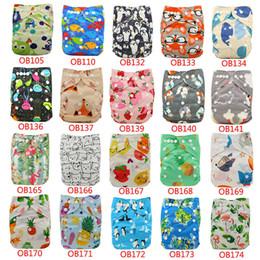 One Size Diaper Australia - 10pcs lot Nappies Adjustable Reusable Diaper Cover One Size Couche Lavable Washable Baby Cloth Pocket Diapers Q190530