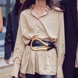 Toptan satış elbise lüks marka moda bel ceinture için Tasarımcı kemerleri kadınların yüksek kaliteli hakiki deri kemer siyah stil bel kuşağı Y191218 femme