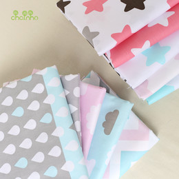 Sewing Baby Bedding Australia - Printed Twill Cotton Fabric For Sewing Quilting Star & Cloud Tissue Baby Bedding Sheets Sleepwear Children Dress Skirt Material