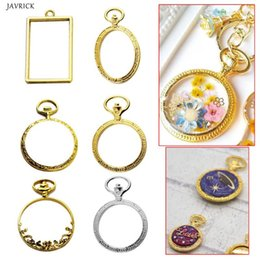 watches components NZ - ewelry Findings & Components 6pcs set Metal Frame Pocket Watch Charm Pendant Bezel Setting UV Resin Charm Necklace Earring Findings Casti...
