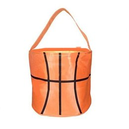Corduroy Accessories UK - Easter Sports Pattern Baskets Canvas Handbags Football Basketball Baseball Soccer Softball Bucket Reversible Fabric Storage Bags