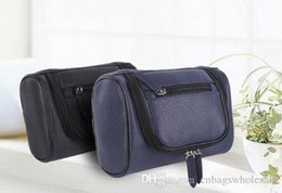 Blue Cosmetics Bag Australia - Travel PU toiletry tote bag cosmetics, make up brushes, necessaries storage bag organizer black, deep blue