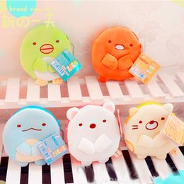Best White Bags Australia - Top New 5 Styles Sumikko Gurashi Plush Bag Anime Collectible Soft Bags Best Gifts Coin Bags