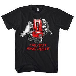 Japanese Engines Australia - 2018 Hot Sale 100% Cotton Classic Japanese Car Fans Skyline Gtr Rb26 R32 R33 R34 Heart Of The Beast Engine Jdm Tee Shirt