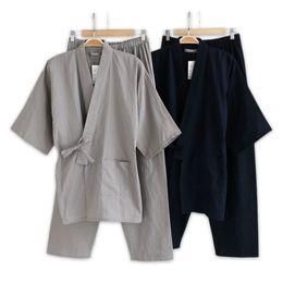$enCountryForm.capitalKeyWord NZ - Plus Size Xl Japanese Pajamas Mens Pijamas 100% Cotton Spa Robe Sets For Male Boxer Kimono Robes Men Hombre Q1904017