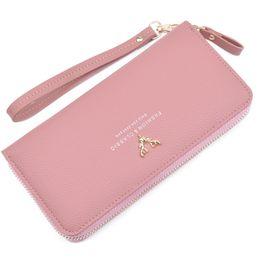 Striped Slim korean dreSS online shopping - New Design Wallet for Women Leather Slim Clutch Long Designer Trifold Ladies Credit Card Holder Organizer