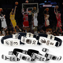 $enCountryForm.capitalKeyWord Australia - Men's Fashion Kobe Titanium Steel Elastic Rubber Wristbands Silicone Bracelet Cuff Bracelets Gift for Basketball Fans
