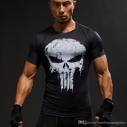 pink compression shorts men NZ - TUNSECHY Short Sleeve 3D T Shirt Men T-Shirt Male Tee Captain America Superman Tshirt Men Fitness Compression Shirt Punisher MMA