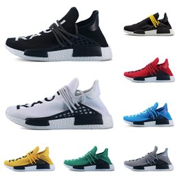 32e349d85 Hot Sale Human Race Hu Trail Pharrell Williams Men Running Shoes Black  White Yellow Red Blue Mens Trainers Women Athletics Sports Sneakers