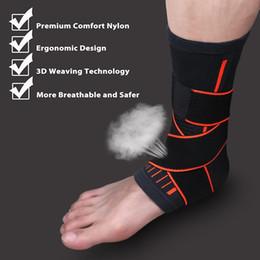 Taekwondo proTecTors online shopping - 1PC Weaving Elastic Nylon Strap Ankle Support Brace Badminton Basketball Football Taekwondo Fitness Heel Protector