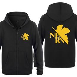 $enCountryForm.capitalKeyWord UK - Mens Hoodie Anime Neon Genesis Evangelion NERV Hoodies Men Fleece Long Sleeve Zipper Jacket Coat Sweatshirt Hip Hop Tracksuit