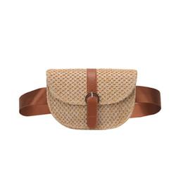Waist Packs Summer New Crossbody Shoulder Bag Female Embroidery Straw Woven Beach Waist Bag Fpr Women Fanny Pack Chest Bags Bolsas Feminina