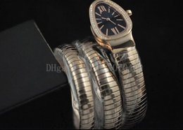 rose gold black womens watches Canada - 7 Color in Original Box Ladies luxury Watch Turbogas Serpenti Rose Gold Diamond Bezel Black Dial Quartz Womens Watch Ladies Watches