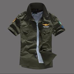 $enCountryForm.capitalKeyWord Australia - Men Shirt Airforce Uniform Military Short Sleeve Slim Fit Camisa Masculina Khaki Army Green Shirt High Quality Shirt Men T2190608