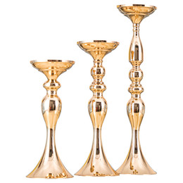 $enCountryForm.capitalKeyWord Australia - Wholesale Cheapest metal flower arrangement table vase centerpieces road lead decors candlesticks wedding decorations