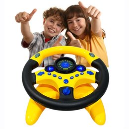 China Simulated Steering Wheel Kid Copilot Simulated Steering Wheel Racing Driver Toy Educational Sounding Car Interior Accessories supplier toy car steering suppliers