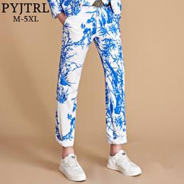 $enCountryForm.capitalKeyWord Australia - Pyjtrl Brand 2018 Tide Men Colorful Floral Print Slim Fit Suit Trousers Plus Size Hip Hot Male Fashion Casual Pants Dress Y190418