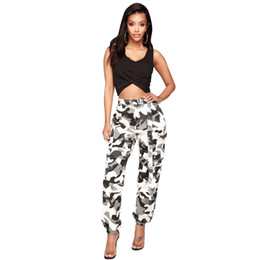 camouflage outfits women Australia - Gray Camouflage Cargo Pants Trends Fashion Ladies Girls Sexy Hot Workout LS6114 Camo Pocket Belt Club Party Outfits Streetwear Clubwear