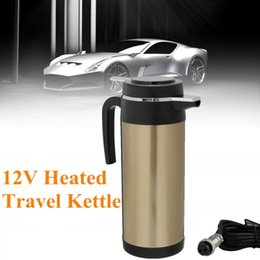 $enCountryForm.capitalKeyWord Australia - 1200ml 12V Car Adapter Electric Heated Mug Water Kettle Bottle Dual Layer Stainless Steel Travel Thermoses Coffee Heated Kettle