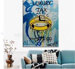 $enCountryForm.capitalKeyWord Australia - Alec Monopoly Banksy Graffit Luxury tax oil painting Handpainted & HD Print Wall Art Home Decor on High Quality Thick Canvas g207