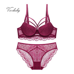Varsbaby sexy push up underwire bra and panties gather full floral lace  underwear set for women a32d49666