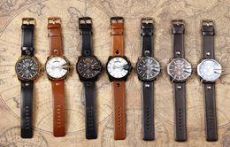 Relojes para hombre Top marca lujo cuero correa impermeable deporte hombres cuarzo reloj militar negocio hombre reloj en venta
