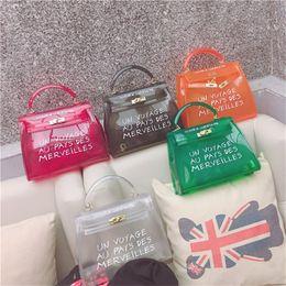 $enCountryForm.capitalKeyWord Australia - 2019 Luxury Designer Bags Semi Transparent PVC Jelly Wrap High Temperature Setting Lock Letter Bag Handbag Candy Color Cute Mini Bag Fashion